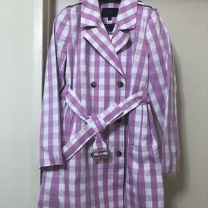 NWT J. Crew Icon Trench in oversized gingham